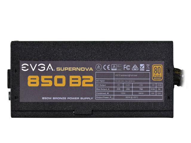 Fonte ATX 850W Supernova 850B2 80 Plus Bronze 110-B2-0850-V0 - EVGA