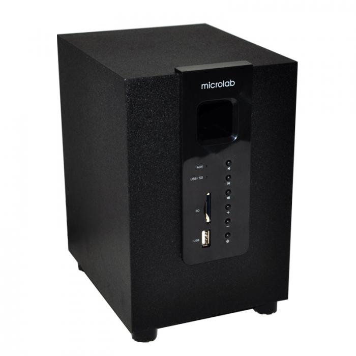 Caixa de Som 2.1 Canal Com USB e Leitor de Cartão 10W RMS M100U - Microlab