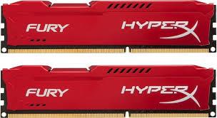 Memória 8GB 1866MHz DDR3 CL10 DIMM (2x4GB) HyperX FURY Red Series HX318C10FRK2/8 - Kingston