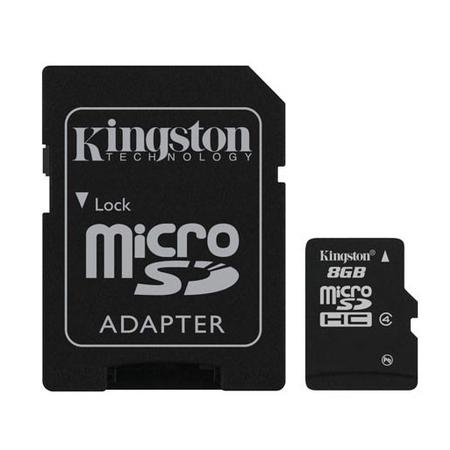 Cartão de Memória SDC4/8GB Micro + 1 Adaptador SDC4/8GB - Kingston