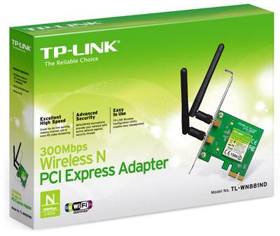 Placa de Rede PCI Express 300Mbps 2 Antenas TL-WN881ND - Tplink