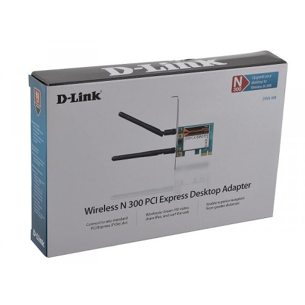 Placa de Rede Wireless 300Mbps N300 Pci-Exp DWA-548 NR - D-Link