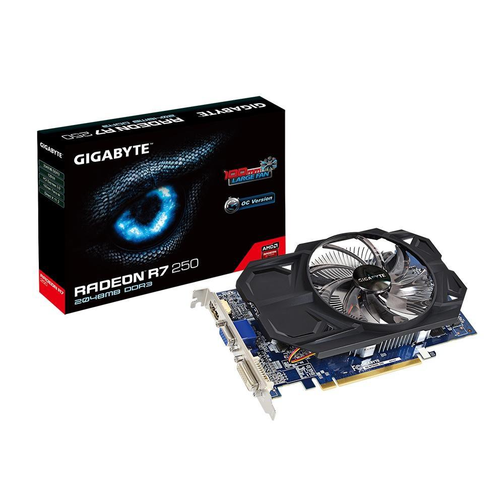 Placa de Vídeo R7 250 2GB DDR3 OC Fansink GV-R725OC-2GI - Gigabyte