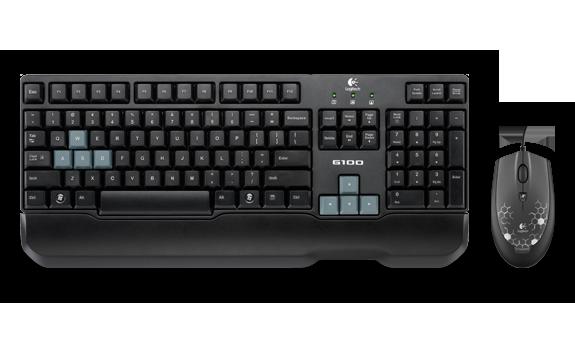 Kit Teclado e Mouse 2500DPI USB Combo Gamer G100 (920-004857-M) - Logitech