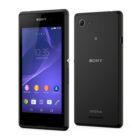 Smartphone Xperia E3 Dual D2212 Preto com Android 4.4, Quad Core 1.2GHz, 4.5, 4GB, 5MP, 3G - Sony