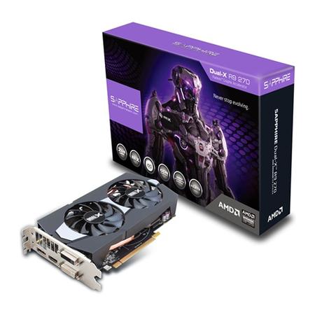 Placa de Vídeo ATI R9 270 2GB DUAL-X OC BOOST GDDR5 256B 11220-00-20G - Shappire