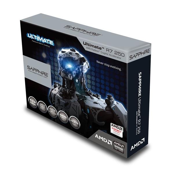 Placa de Vídeo R7 250 1GB SR Ultimate GDDR5 128Bit 11215-04-40G - Shappire