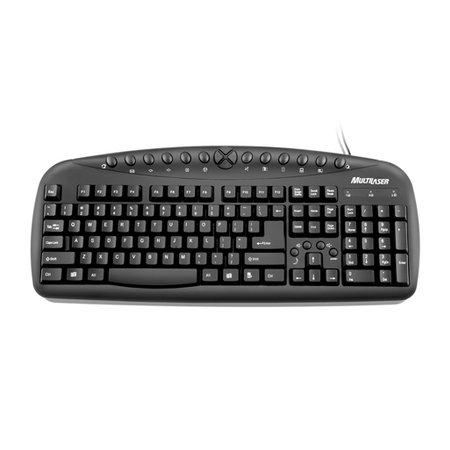 Teclado Super Multimídia USB Preto TC081 - Multilaser