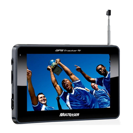 GPS 4.3 Polegadas Touchscreen c/ TV + FM GP034 (GP012) - Multilaser