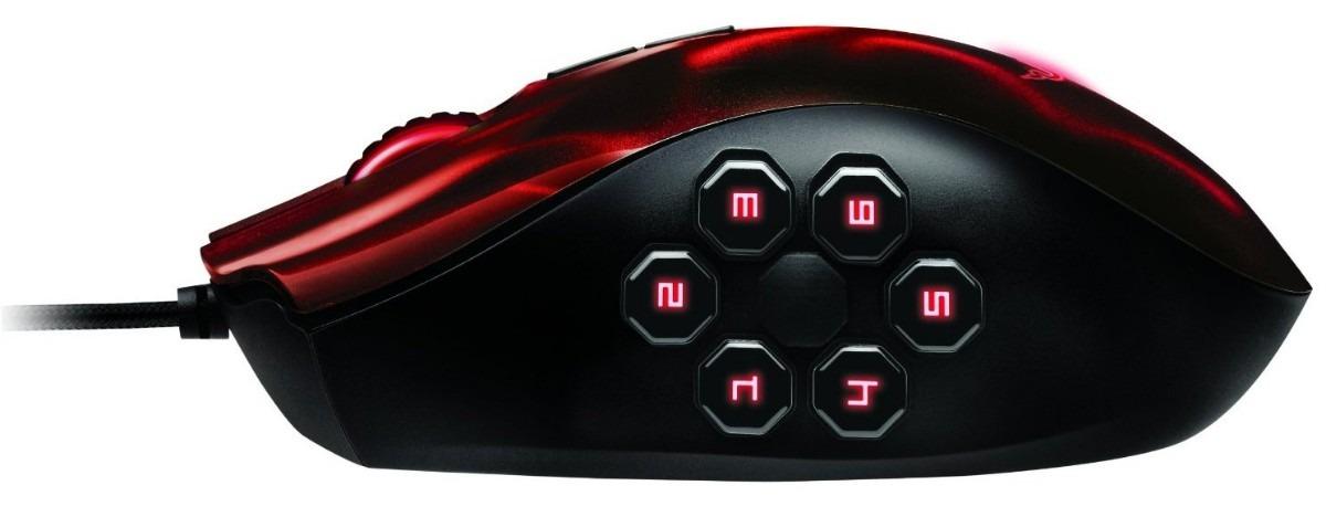 Mouse Laser Naga Hex Vermelho RZ01-00750200-R3U1 - Razer