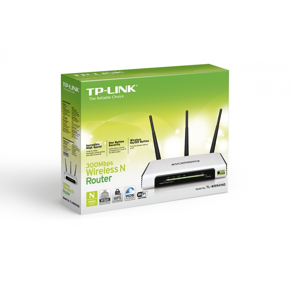 Roteador Wireless 300Mbps TL-WR941ND c/ 3 Antenas (Removiveis) - Tplink