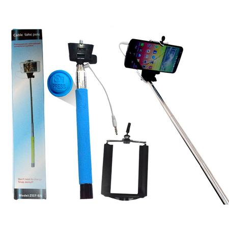 Suporte para Selfie Com Conex�o P2 Azul TP0004AZ