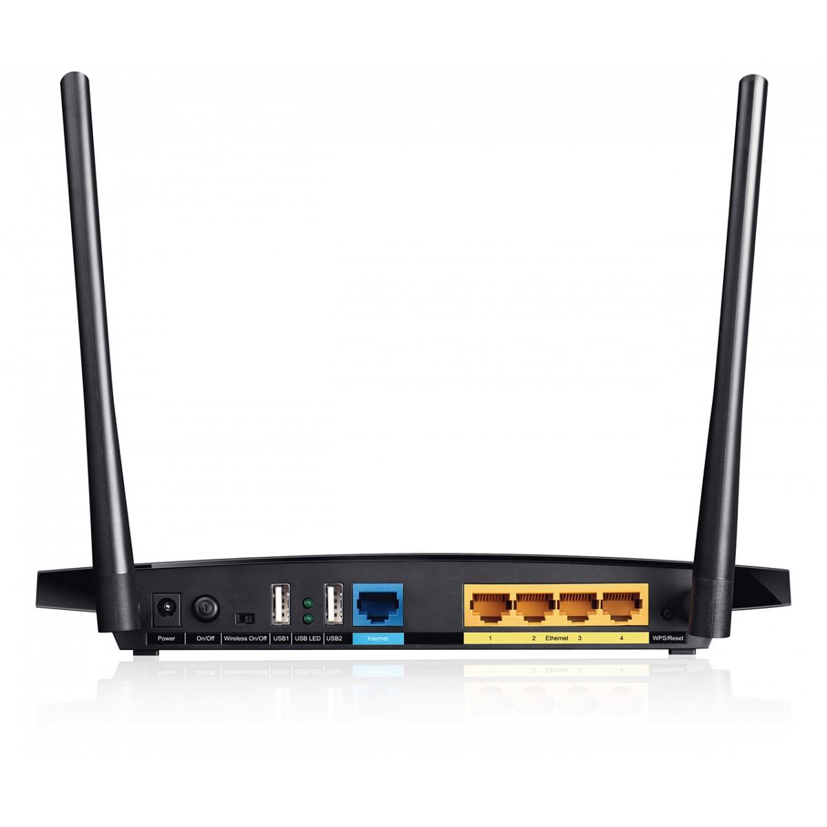 Roteador Wireless Gigabit Dual-Band TL-WDR3600 ( 300+300Mbps) C/2 Antenas ( 1Wan/4Lan/2USB) - Tplink