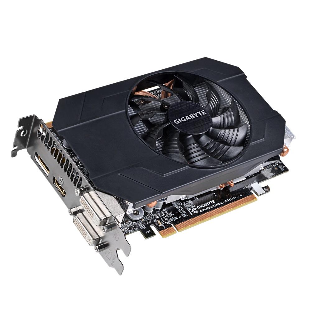 Placa de Vídeo Nvidia GTX960 2GB OC Mini ITX DDR5 128Bits GV-N960IXOC-2GB - Gigabyte