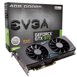Placa de V�deo Geforce GTX970 4GB SuperClock DDR5 256Bit 04G-P4-3975-KR - EVGA