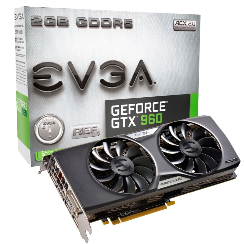 Placa de Vídeo Geforce GTX960 2GB DDR5 128Bit 02G-P4-2963-KR - EVGA