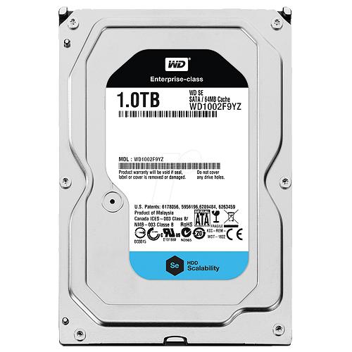 Hard Disk 1TB 3.5 Sata III 6Gb/s 7200RPM 128MB Cache WD1002F9YZ - Western Digital
