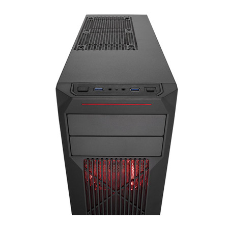 Gabinete Mid Tower Carbide SPEC-02 Red LED Gaming CC-9011051-WW - Corsair