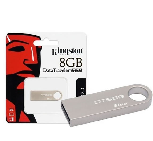 Pen Drive Data Traveler 8GB DTSE9H/8GBZ Prata - Kingston