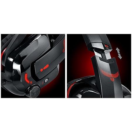 Headset Gamer Eagle 7.1 Vermelho C/Microfone 21836 - Pcyes