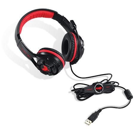 Headset Gamer Falcon 7.1 Vermelho C/Microfone 21835 - Pcyes