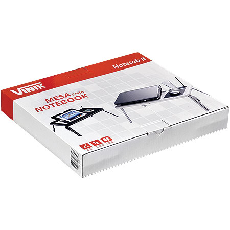 Mesa Port�til para Notebook C/Cooler Notetab II Preta 21032 - Vinik