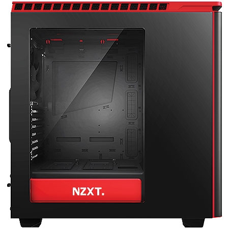 Gabinete Mid Tower H440 Matte Black/Red Gloss CA-H440W-M1 22841 - NZXT