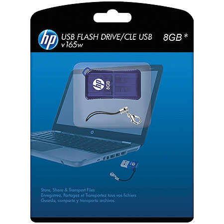 Pen Drive 8GB V165W P-FD8GBHP165-GEL Azul - HP