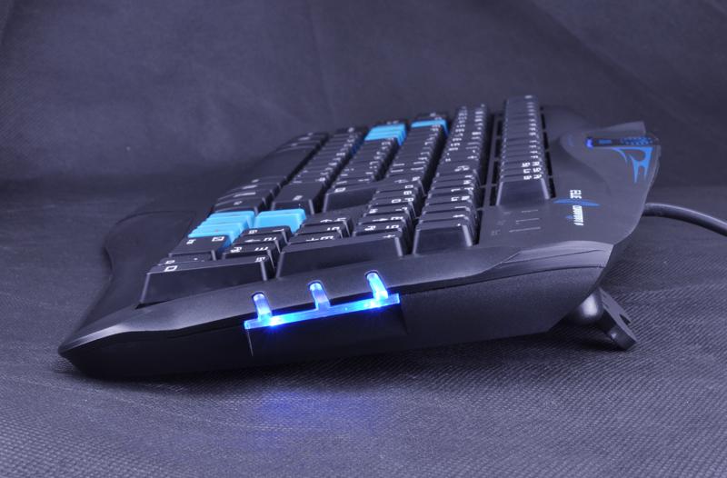 Teclado Cobra Combatant X Preto/Azul USB 47970 - E-BLUE