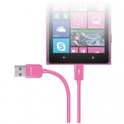 Cabo Micro USB 21682 Rosa linha Mobi - Pcyes