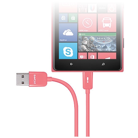 Cabo Micro USB Salmão 21681 Linha Mobi - Pcyes