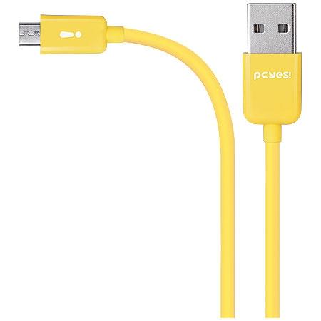 Cabo Micro USB 21680 Amarelo Linha Mobi - Pcyes