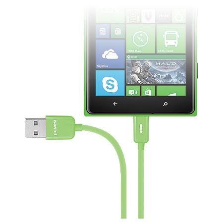 Cabo Micro USB 21679 Verde Linha Mobi - Pcyes