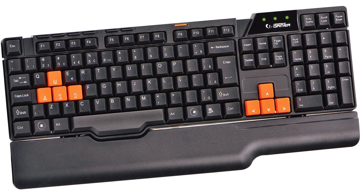 Teclado Multimidia Gamer Easy USB 6773 - Leadership
