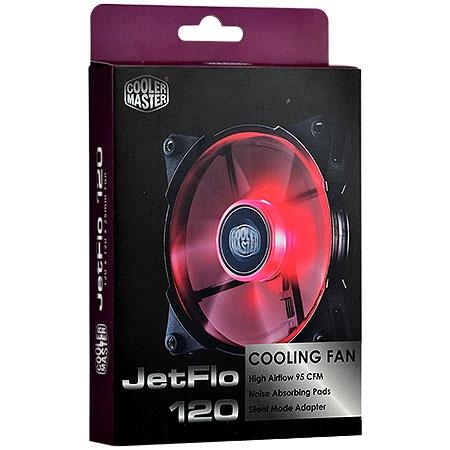 Cooler JetFlo 120mm LED Vermelho R4-JFDP-20PR-R1 (Alto Desempenho) - Coolermaster