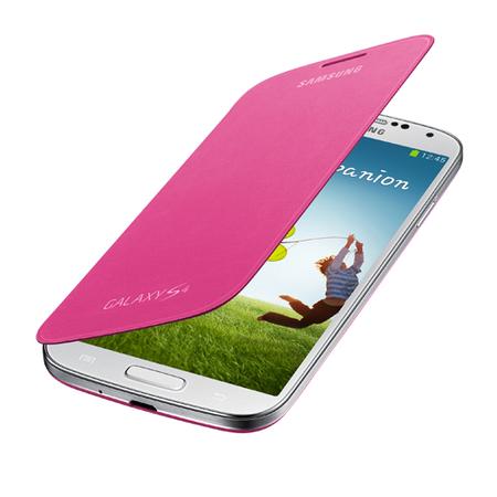 Capa Flip Cover Para Galaxy S4 Rosa EF-FI950BPEGWW - Samsung