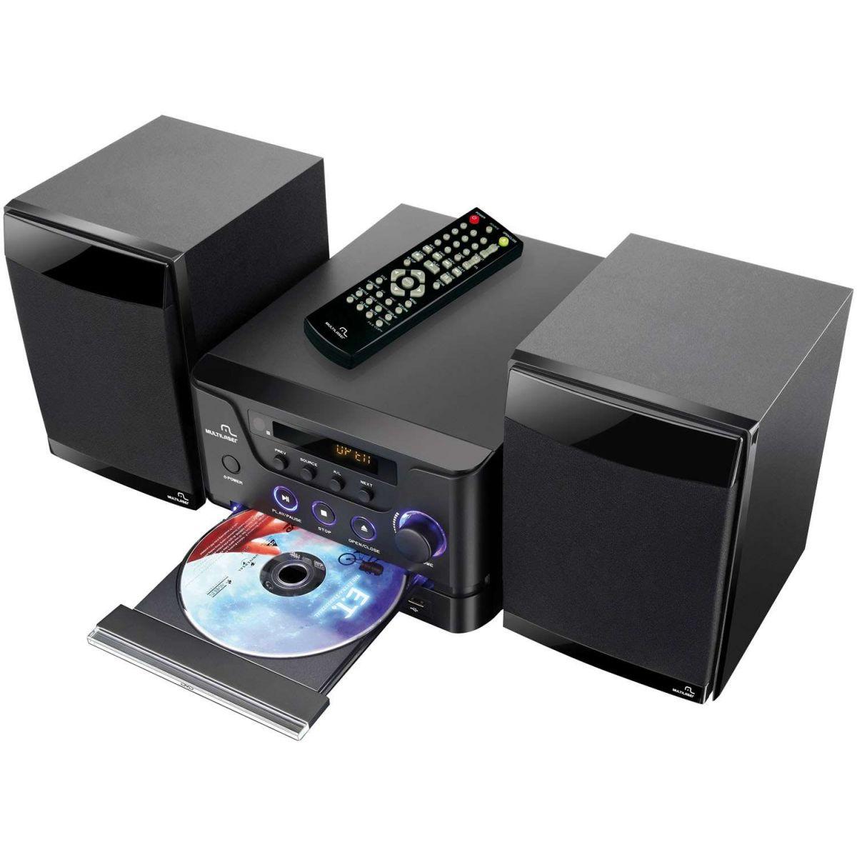 Caixa de Som 2.0 30W RMS com DVD/USB/SD e Controle Remoto SP127 - Multilaser