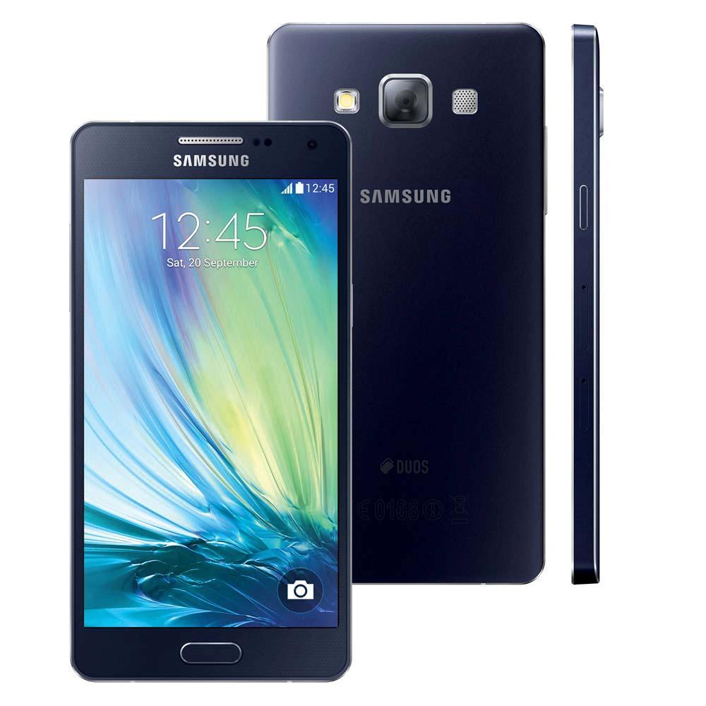 Smartphone Galaxy A5 Duos Dual Chip 4G Android 4.4 C�m. 13MP Tela 5 Proc. Quad Core Preto SM-A500M/DS - Samsung