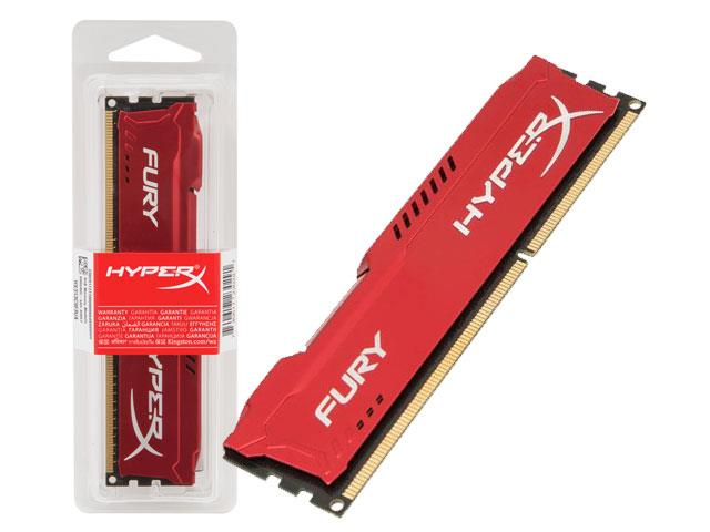Memória de 8GB Gamer Hyper X HX318C10FR/8 Fury 1866Mhz CL10 Vermelha - Kingston