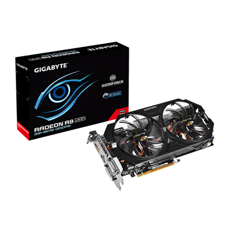 Placa de Vídeo R9 285 Windforce 2GB 256Bits GDDR5 PCI 3.0 GV-R9285WF2OC-2GD - Gigabyte