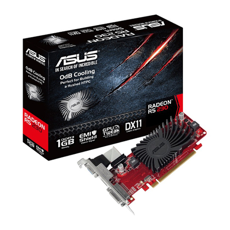 Placa de Vídeo R5 230 1GB DDR3 64Bit R5230-SL-1GD3-L - Asus