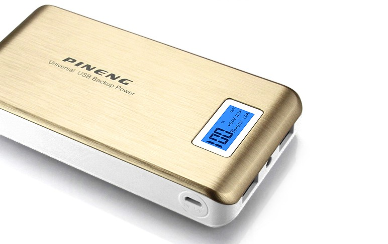 Bateria Externa Power Bank PN-929 15000 mAh Dourado - Pineng