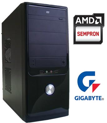 CPU AMD Am1 Dual Core 4GB HD de 500GB DVD-RW - Glacon