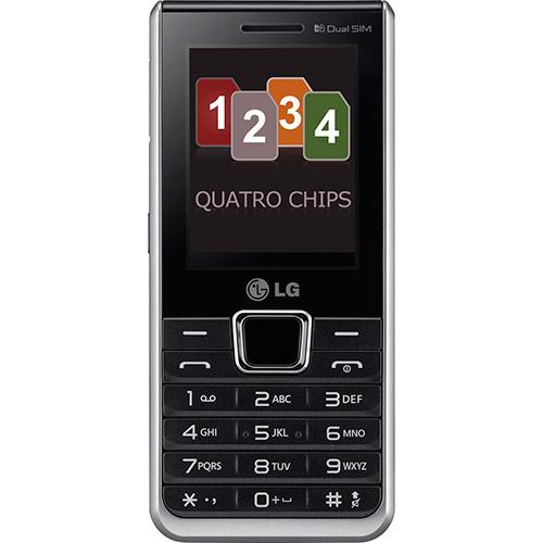 Celular Desbloqueado A395 Preto Com Quadri Chip Camera 1.3MP, MP3, Radio FM, Bluetooth, Fone e Cartao de 2GB - LG