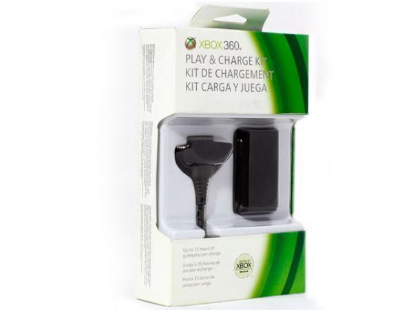 Bateria para Controle de X-BOX + Cabo de Alimentacao Preto NUF-00001 - Microsoft