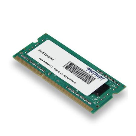 Memória Notebook 4GB 1333MHz DDR3 SODIMM PSD34G133381S - Patriot