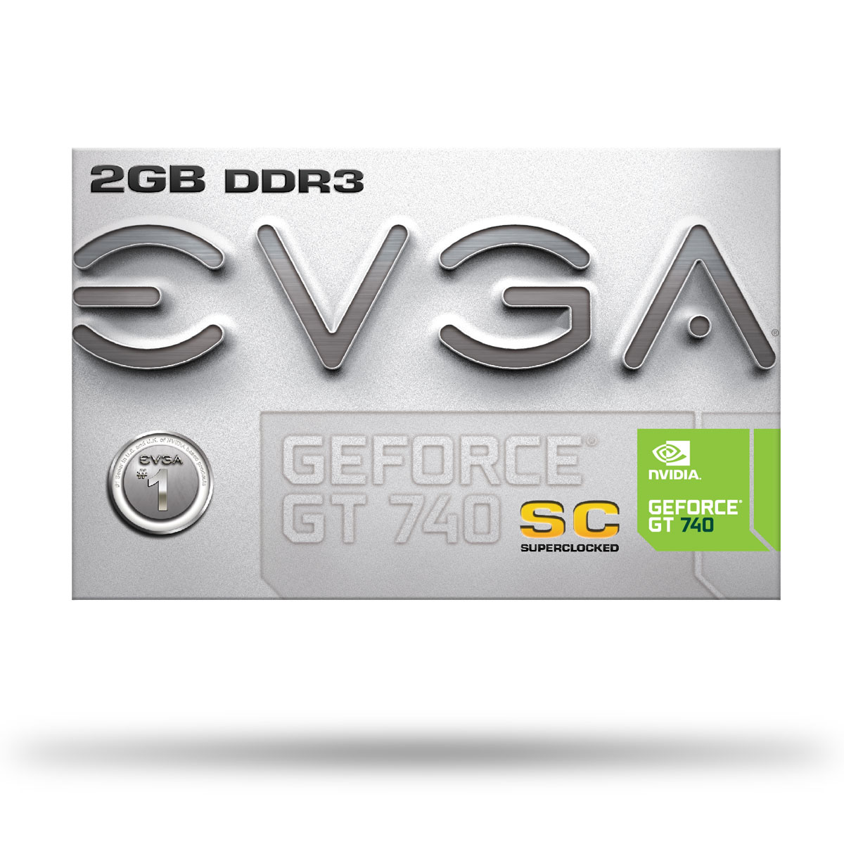 Placa de Vídeo Geforce GT740 2GB DDr3 128Bits 02G-P4-2742-KR - EVGA