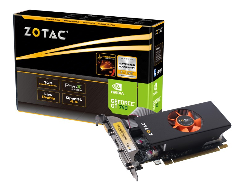 Placa de Vídeo Geforce GT740 Low Profile 1GB DDR5 128Bit ZT-71003-10L - Zotac