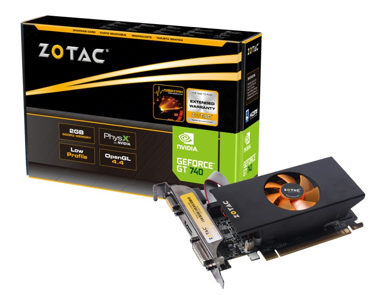 Placa de Vídeo Geforce GT740 Low Profile 2GB DDR3 128Bit ZT-71006-10L - Zotac