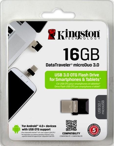 Pen Drive 16GB DTDUO USB/Micro USB DTDUO3/16GB USB 3.0 - Kingston